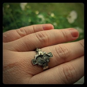 Crucifix Jesus ring